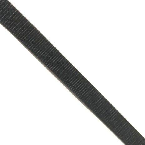 12mm polyester webbing black