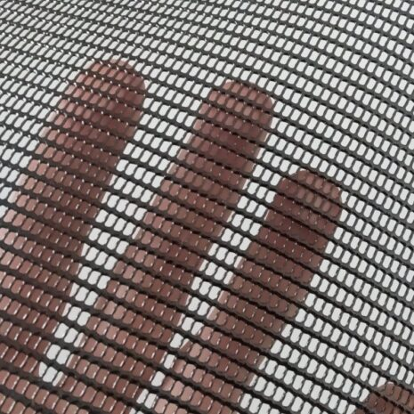 Polyester woven mesh with PVC coating