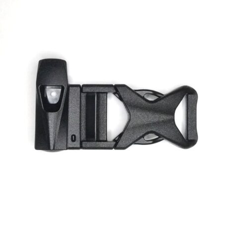 Buckle with integrated whistle 15mm